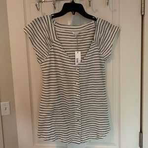 Lucky Brand Striped Top Tee